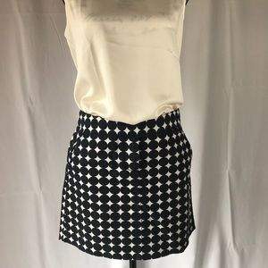 J Crew Navy Blue Mini Skirt